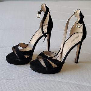Black strappy stilettos